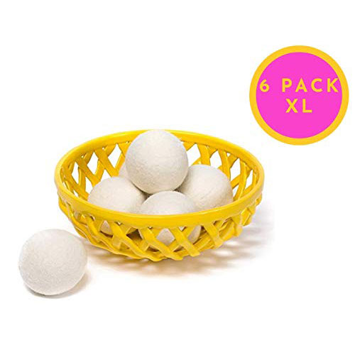 5. Wool Dryer Balls - Natural Fabric Softener, Reusable Handmade Nontoxic Hypoallergenic 100% Organic