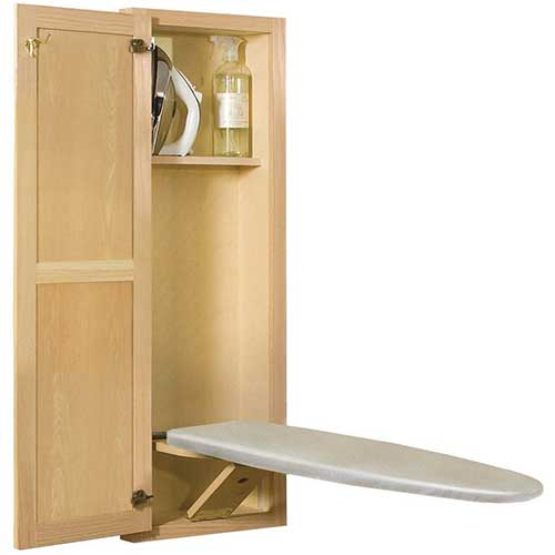 1. New Hide Away Sup400 Oak Built In Recessed Wooden Supreme Series Ironing Board