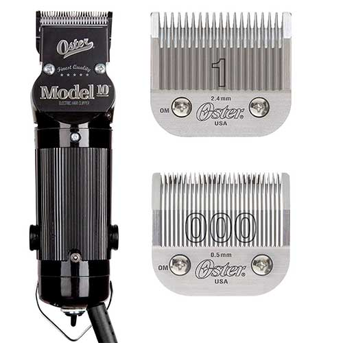 1. Oster Model 10 Classic Professional Barber Salon Pro Hair Grooming Clipper With blades Size 000 And 1