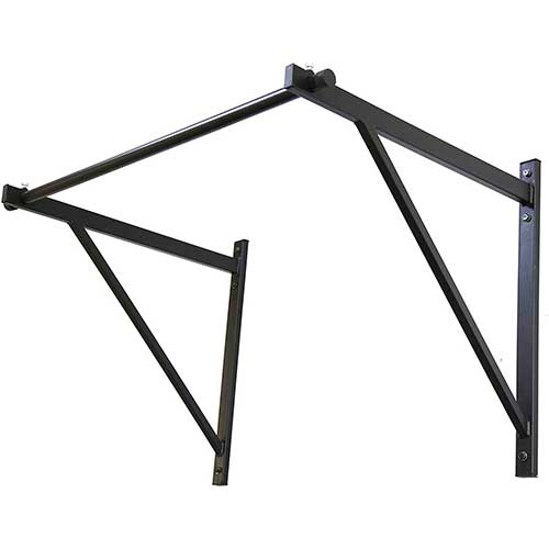 5. ECOTRIC 50'' Heavy Duty Wall Mounted Pull Up Chin Up Bar