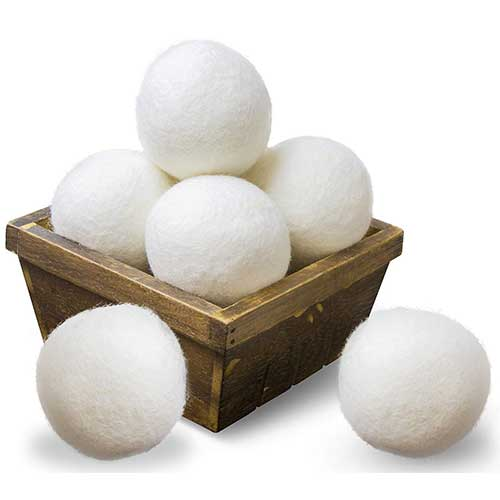 10. SnugPad Wool Dryer Balls Natural Fabric Softener and 100% Organic