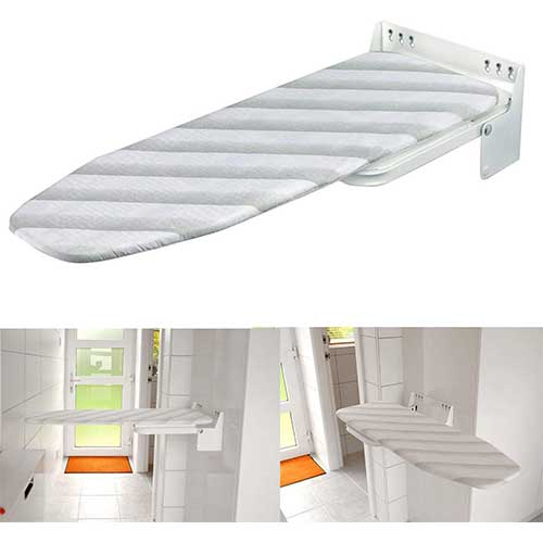 3. Nisorpa Wall Mounted Iron Board Fold Away Laundry Ironing Board