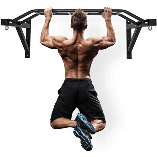"7. Wall Mount Pull-Up Bar - 47"" Multi-Grip Chin-Up Station"