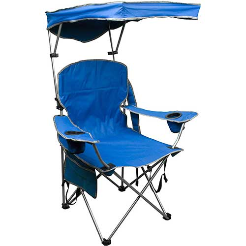 6. Quik Shade Adjustable Canopy Folding Camp Chair