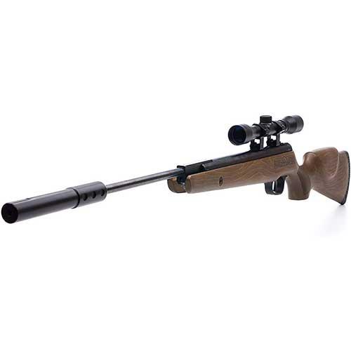 9. Bear River 1300 S Outdoors Woodsman Pellet Gun Cal Air 0.177 Sniper Suppressor Real Wood B1770 Stock