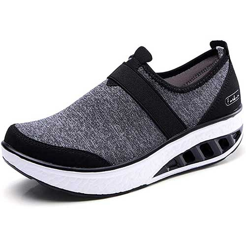 8. ZYEN Women Comfortable Walking Shoes