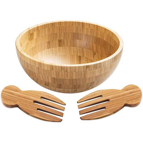 9. Strova Bamboo Salad Bowl