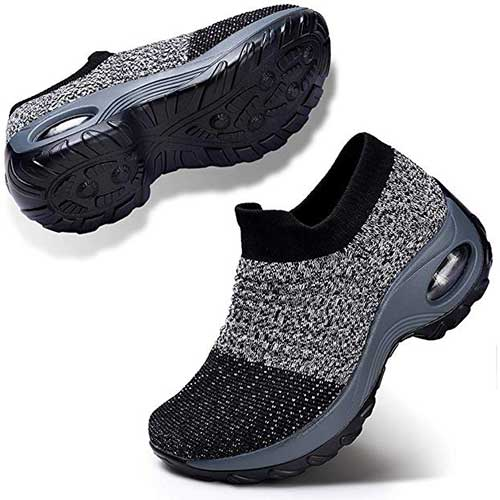 2. STQ Slip On Breathe Mesh Walking Shoes