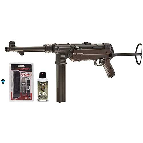 7. Legend Umarex GEN-3 CO2 MP40 Full Metal SMG .177 Semi/Full Auto Air Gun Speed Loader and Silicone Oil Universal