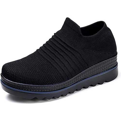 9. HKR Women Platform Slip on Loafers