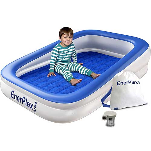 3. EnerPlex Kids Inflatable Toddler Travel Bed