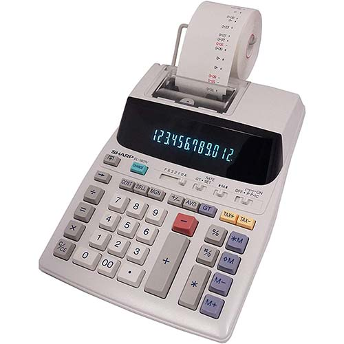4. Sharp EL-1801V Two-Color Printing Calculator 2.1 Lines/Sec 4