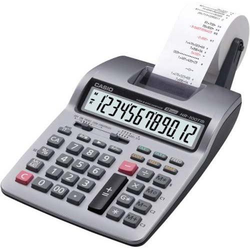 1. Casio Inc. HR-100TM mini desktop printing Calculator