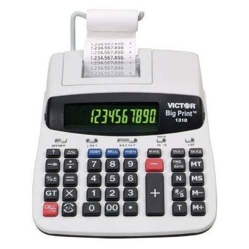 6. Victor 1310 Big Print Commercial Thermal Printing Calculator, Black Print, 6 Lines/Sec
