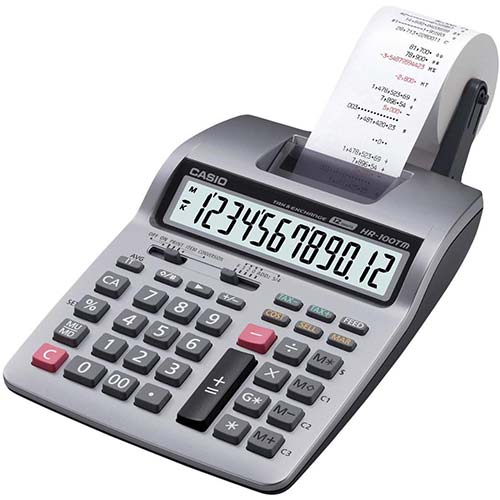2. Casio Inc. HR-100TM mini desktop printing Calculator