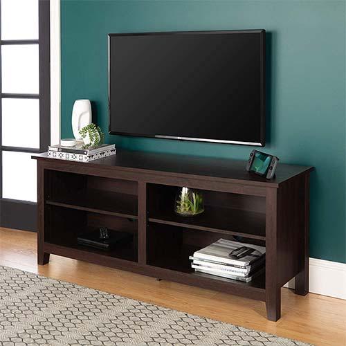 4. WE Furniture Minimal Farmhouse Wood Stand
