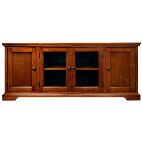 7. Leick 87360 TV Stand, Westwood Cherry