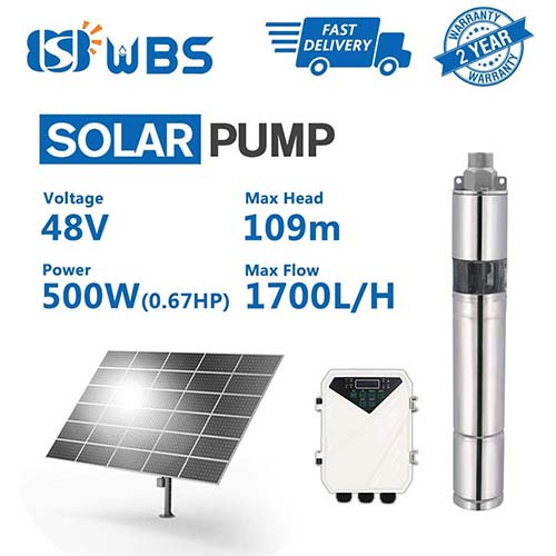 2. WBS Pump Deep Well Solar Water Pump Screw Pump Submersible Solar Bore Pump