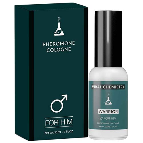 3. Pheromones to Attract Women for Men (Warrior) - Exclusive, Ultra Strength Organic Fragrance Body Cologne Spray