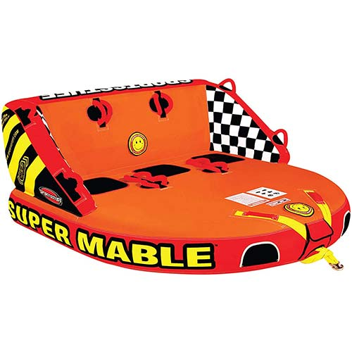 2. Sportsstuff Super Mable | 1-3 Rider Towable Tube for Boating