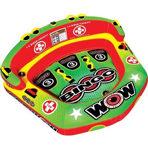5. WOW World of Watersports Bingo Inflatable Towable Tube, Secure Cockpit Seating Towable, Front and Back Tow Points