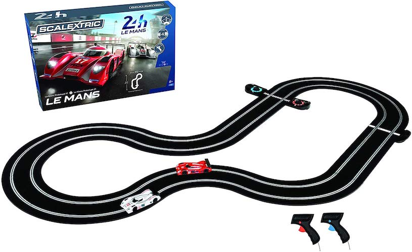 8. Scalextric C1368T 24 Hr Le Mans Sports Cars Slot Car Analog 1:32 Race Track Set