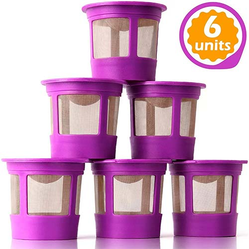 3. GoodCups 6 Reusable K Cups for Keurig K-Classic, K-Elite, K-Select, K-Cafe, K-Compact, K200, K300