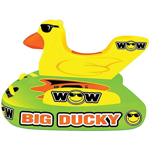 8. WOW World of Watersports Big Ducky 1 2 or 3 Person Inflatable Towable Deck Tube