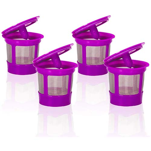 8. 4 Pack Keurig Coffee Filter Reusable K Cups