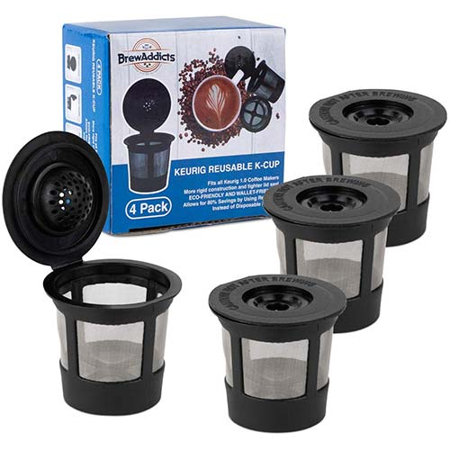 6. Brew Addicts Reusable K-Cups for Keurig 1.0 Brewers