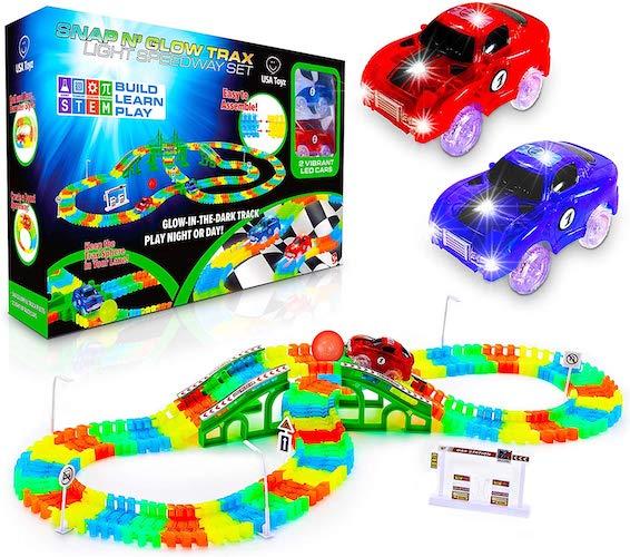 7. USA Toyz Glow Race Tracks for Boys and Girls