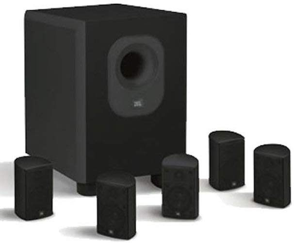 10. Leviton AEH50-BL Architectural Edition Powered By JBL 5-Channel Surround Sound Home Cinema Speaker System