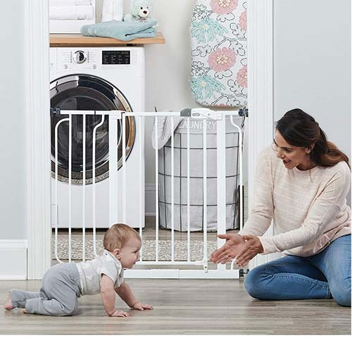2. Regalo Easy Step 38.5-Inch Extra Wide Walk Thru Baby Gate