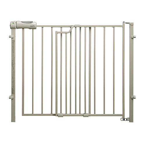 6. Evenflo Easy Walk-Thru Top-of-Stairs Gate