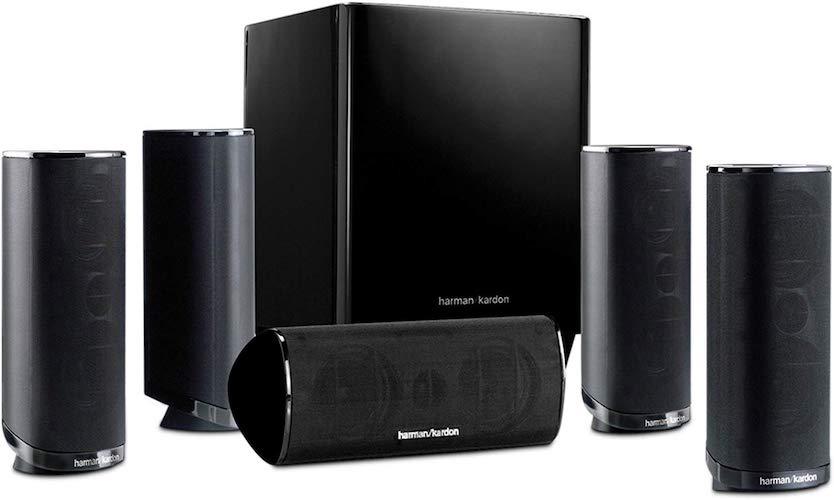 5. Harman Kardon HKTS 16BQ 5.1 Channel Home Theater Speaker Package
