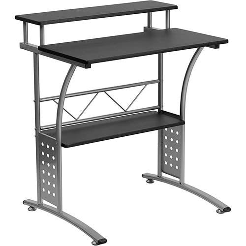 3. Flash Furniture Clifton Black Computer Desk