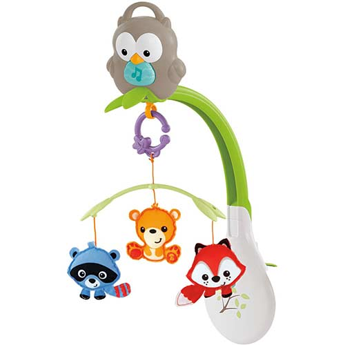 8. Fisher-Price Woodland Friends 3-in-1 Musical Mobile