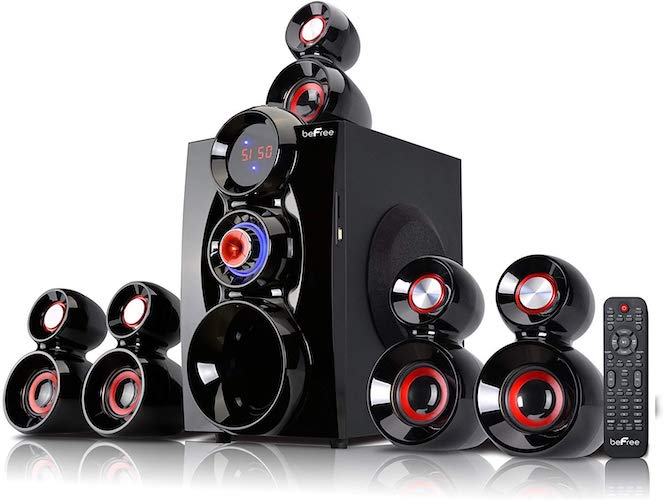 6. beFree Sound BFS-600, 5.1 Channel Surround Sound Bluetooth Speaker System