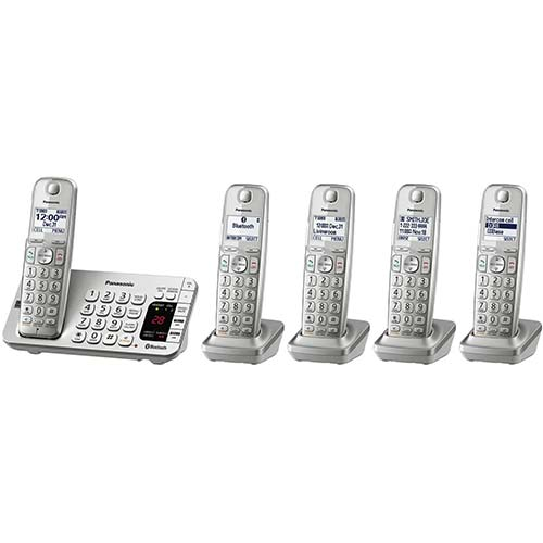 7. Panasonic Link2Cell Bluetooth Cordless DECT 6.0 Expandable Phone System