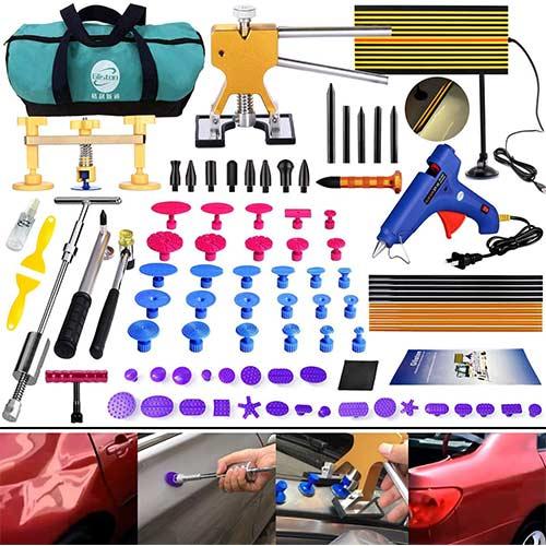8. DIY Paintless Dent Repair Kit - Gliston 89pcs Dent Puller Tools Slide Hammer