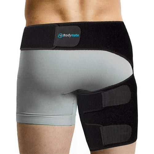 1. BODYMATE Compression Brace for Hip, Sciatica Nerve Pain Relief Thigh Hamstring
