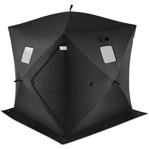 9. Tangkula Pop-up Ice Shelter 2-Person