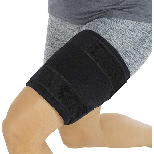 2. Vive Thigh Brace - Hamstring Quad Wrap - Adjustable Compression Sleeve