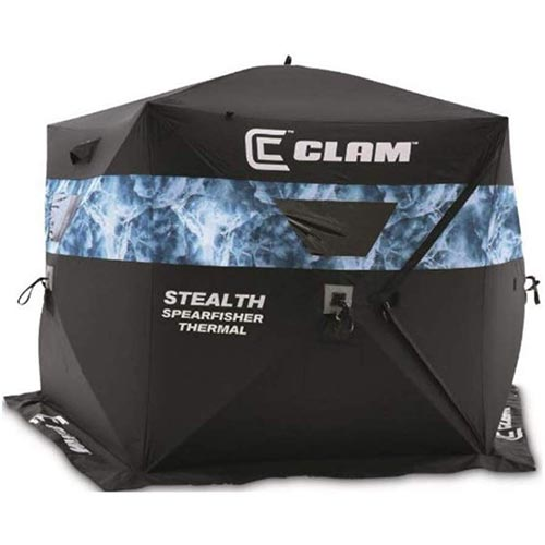 7. Clam Stealth Spearfisher Thermal Ice Hub Shelter