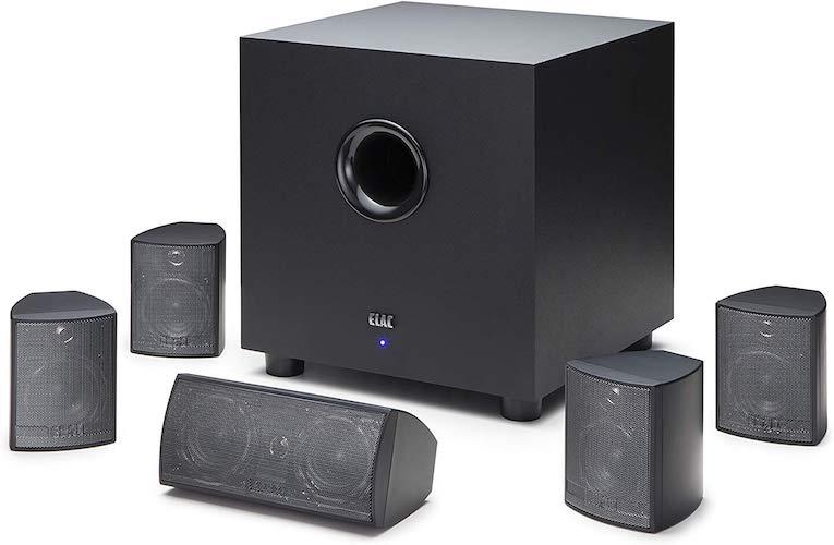 1. ELAC Cinema 5 Home Theater 5.1 Channel Speaker System (HT-C131W-K)