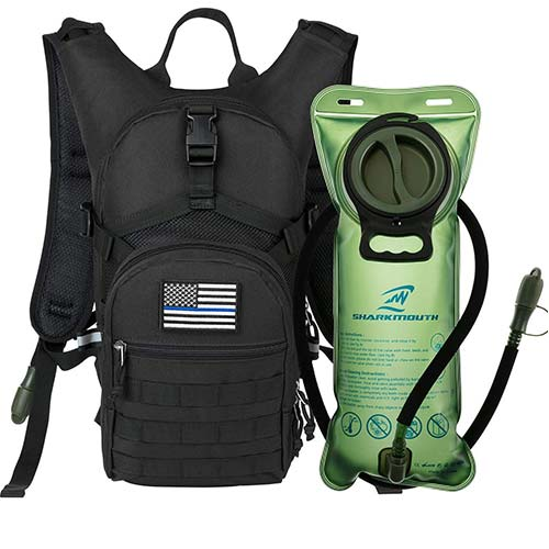 2. SHARKMOUTH Tactical MOLLE Hydration Pack Backpack 900D