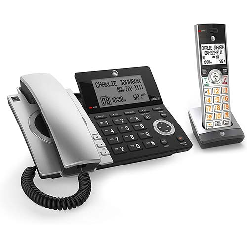 8. AT&T CL84107 DECT 6.0 Expandable Corded/Cordless Phone