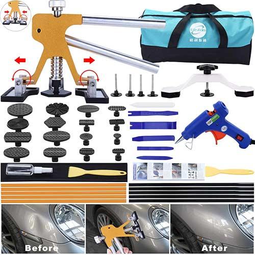 4. GLISTON 45pcs Paintless Dent Repair Tool Dent Puller Kit