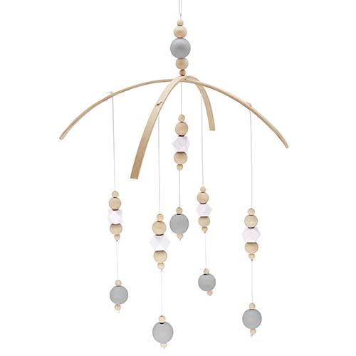 6. Nordic Nursery Wooden Peal Baby Girl Mobiles Decor Hanging Hanger Art Mobiles Baby Chandelier Photography Props Newborn Gift