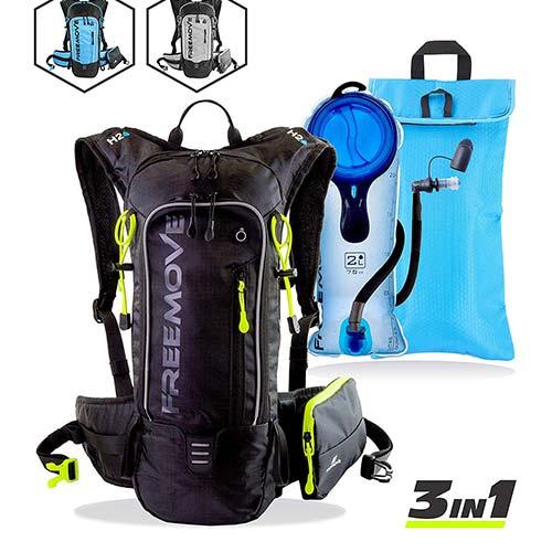 7. FREEMOVE Hydration Pack Backpack with 2L Water Bladder & Cooler Bag or Single Camel Backpack or External Pocket
